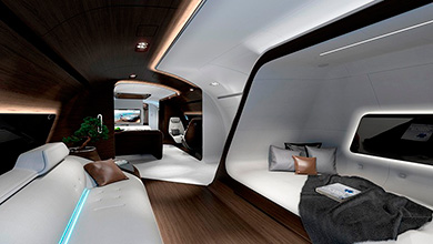 Mercedes Benz interior for BBJ