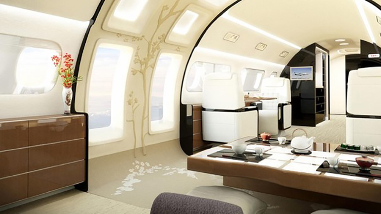 дизайн салона в концепции «Kyoto Airship»