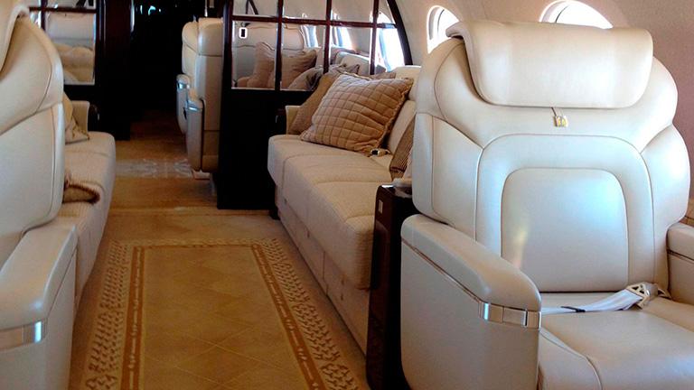 Дизайн салона Gulfstream 650