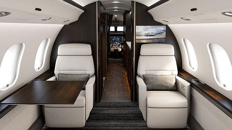 Салон Bombardier Global 6000
