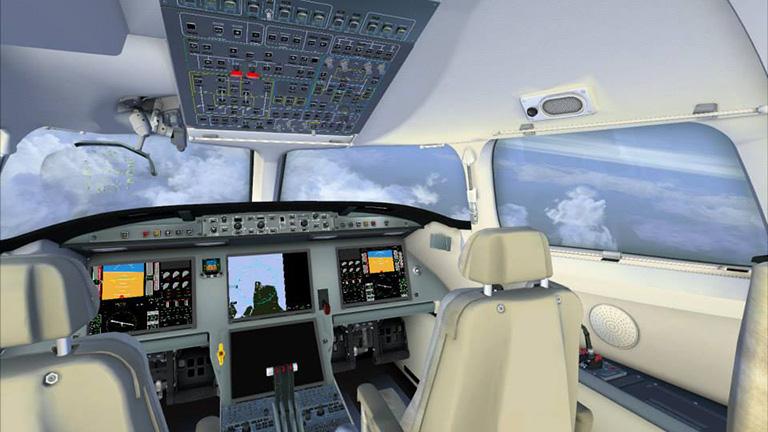 Полётная панель Falcon 7X