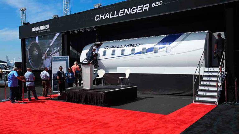 Challenger 650 на NBAA 2015 в Лас-Вегасе