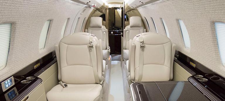 Дизайн салона Cessna Citation X Elite