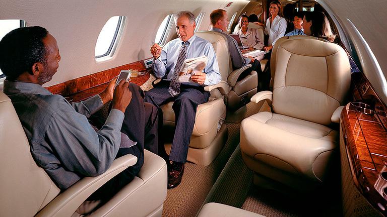 Пассажиры во время перелёта на Cessna X