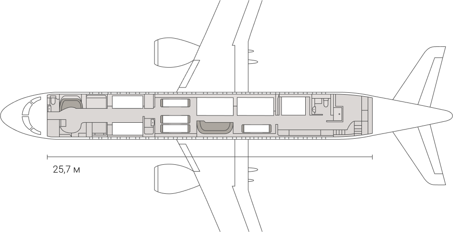 The scheme of the cabin – night
