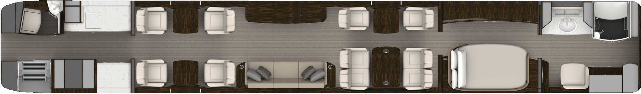 Master Suite aircraft floorplan