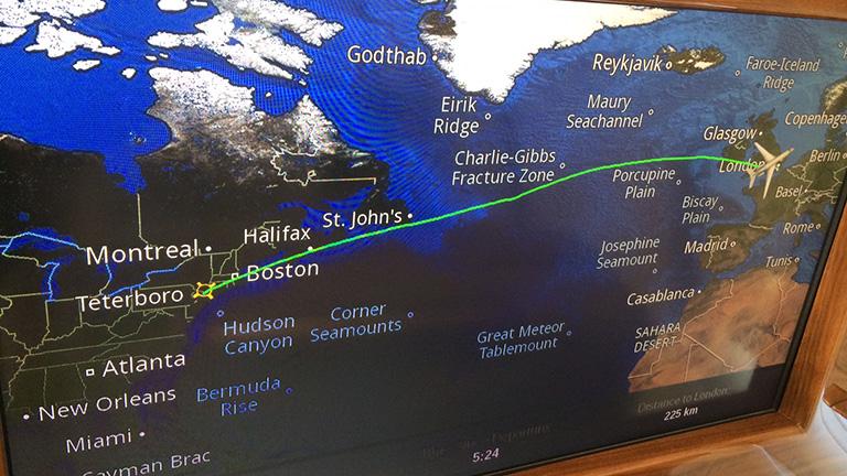 Карта Маршрута Falcon 7X