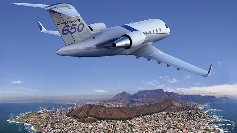 Bombardier Challenger 650 над Кейптауном
