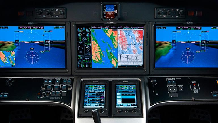 Полётная панель Cessna Citation X