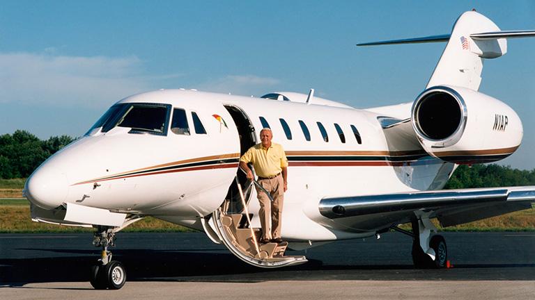 Гольфист Арнольд Палмер и его Cessna X
