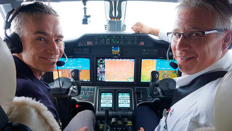 Пилоты за штурвалом Citation X+